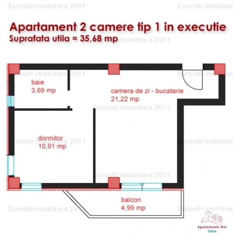 Apartamente 2 camere tip 1 super pret zona Kaufland Sibiu-39-5