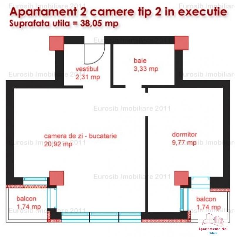 Apartamente 2 camere tip 2  zona Kaufland Sibiu-42-3