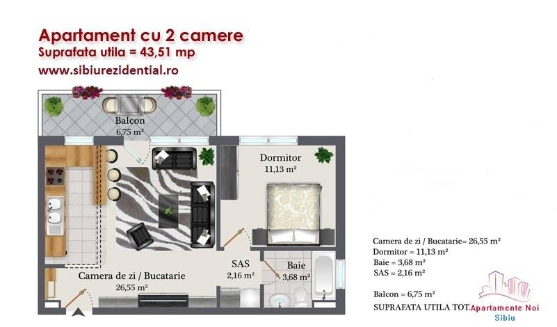 Apartament 2 camere intabulat zona Kaufland-169-0