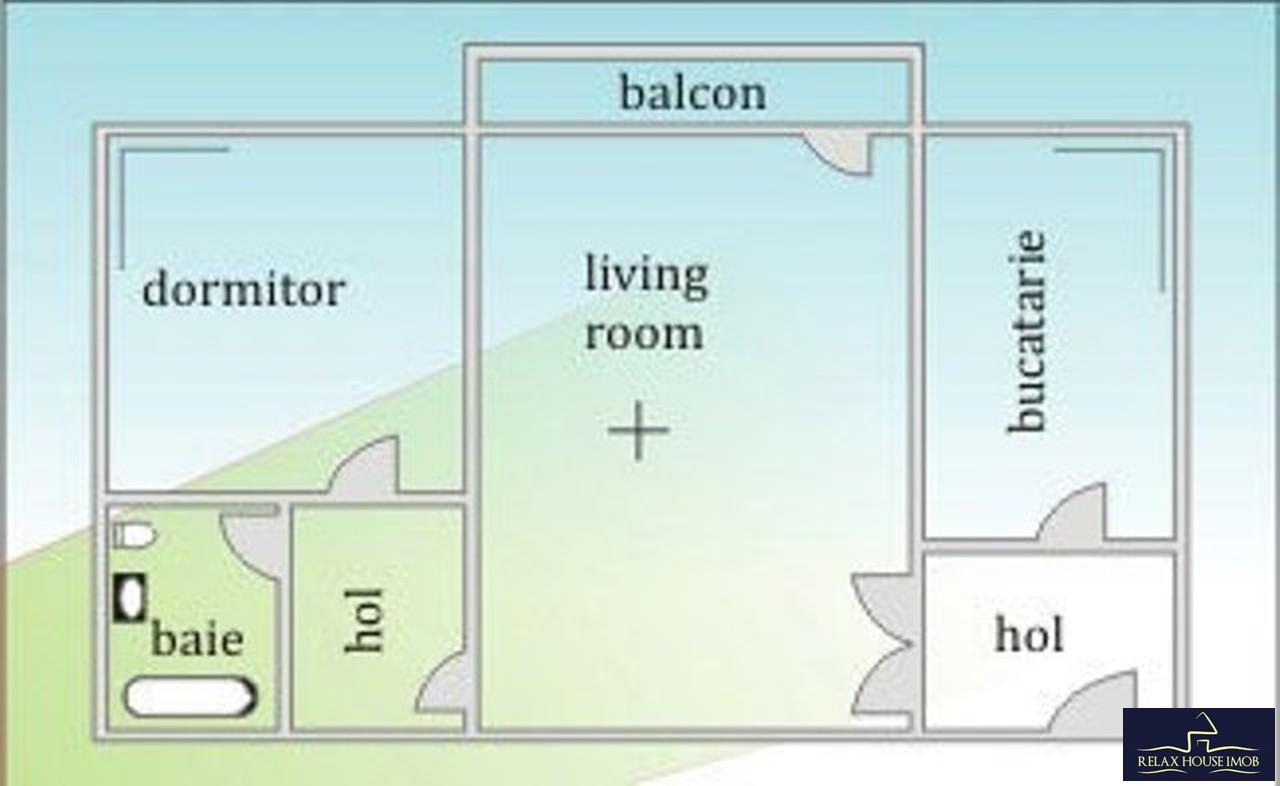 Apartament 2 camere confort 1 semidecomandat, cu 2 grupuri sanitare, in Ploiesti, zona Nord - Gostat-33707-11